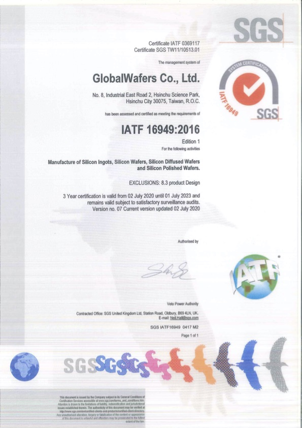 GlobalWafers Co., Ltd.