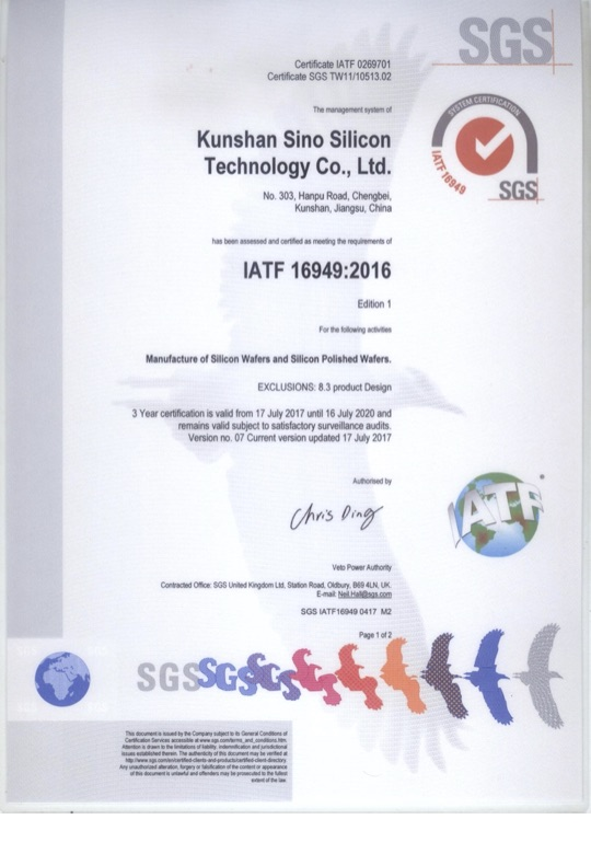 Kunshan Sino Silicon Technology Co., Ltd.