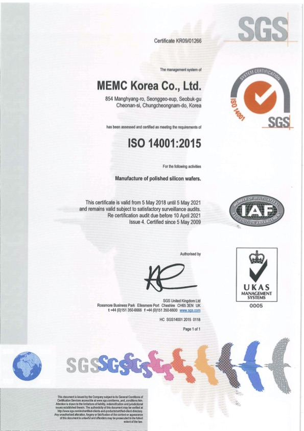 MEMC Korea Co., Ltd.